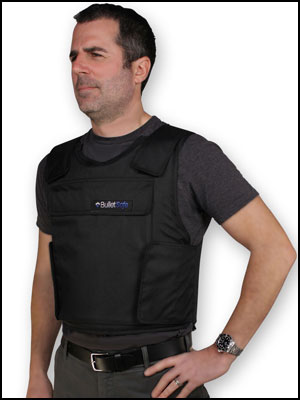bulletproof vest front offset view