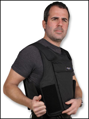 Bulletproof vest side view