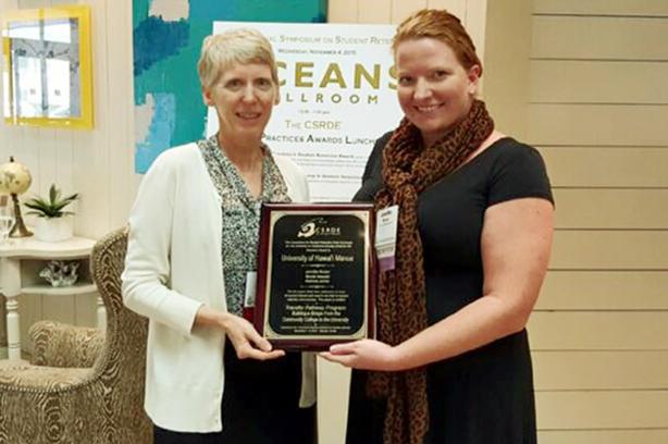 CSRDE Director, Sandra Whalen, with Jennifer Brown of the University of Hawai'i Mānoa