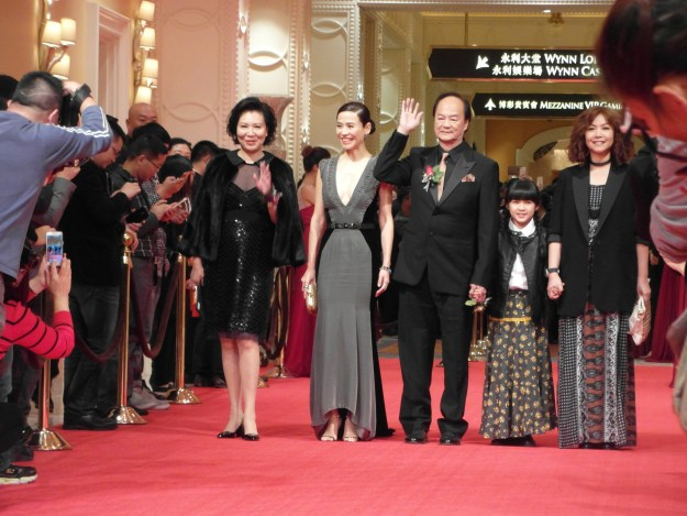 From Left to right: Tao Man-Ming (Di Lung's wife), Jessica Hester Hsuan, Di Lung, Sarah Tan and Jess Teong at the Macau International Movie Festival