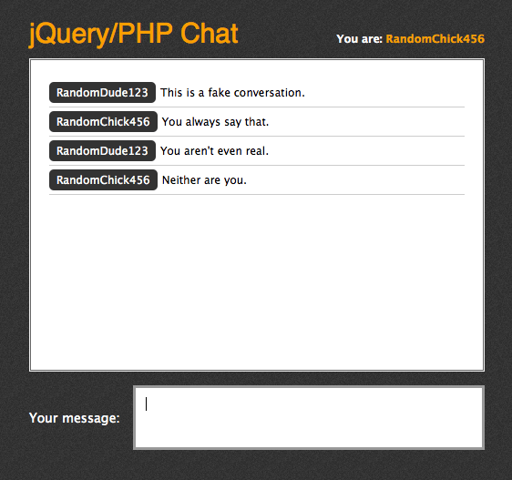 Chat room Using Jquery and PHP