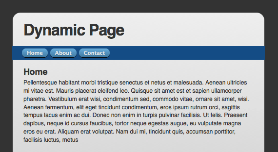 dynamic page replacing content