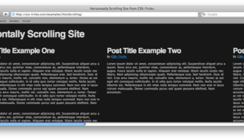 Scrolling Images Css