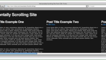 Pure CSS Horizontal Scrolling | CSS-Tricks