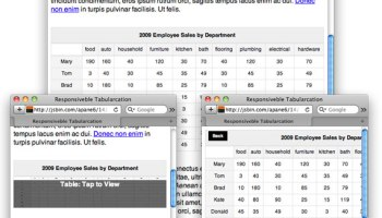 FooTable: a jQuery Plugin for Responsive Data Tables | CSS