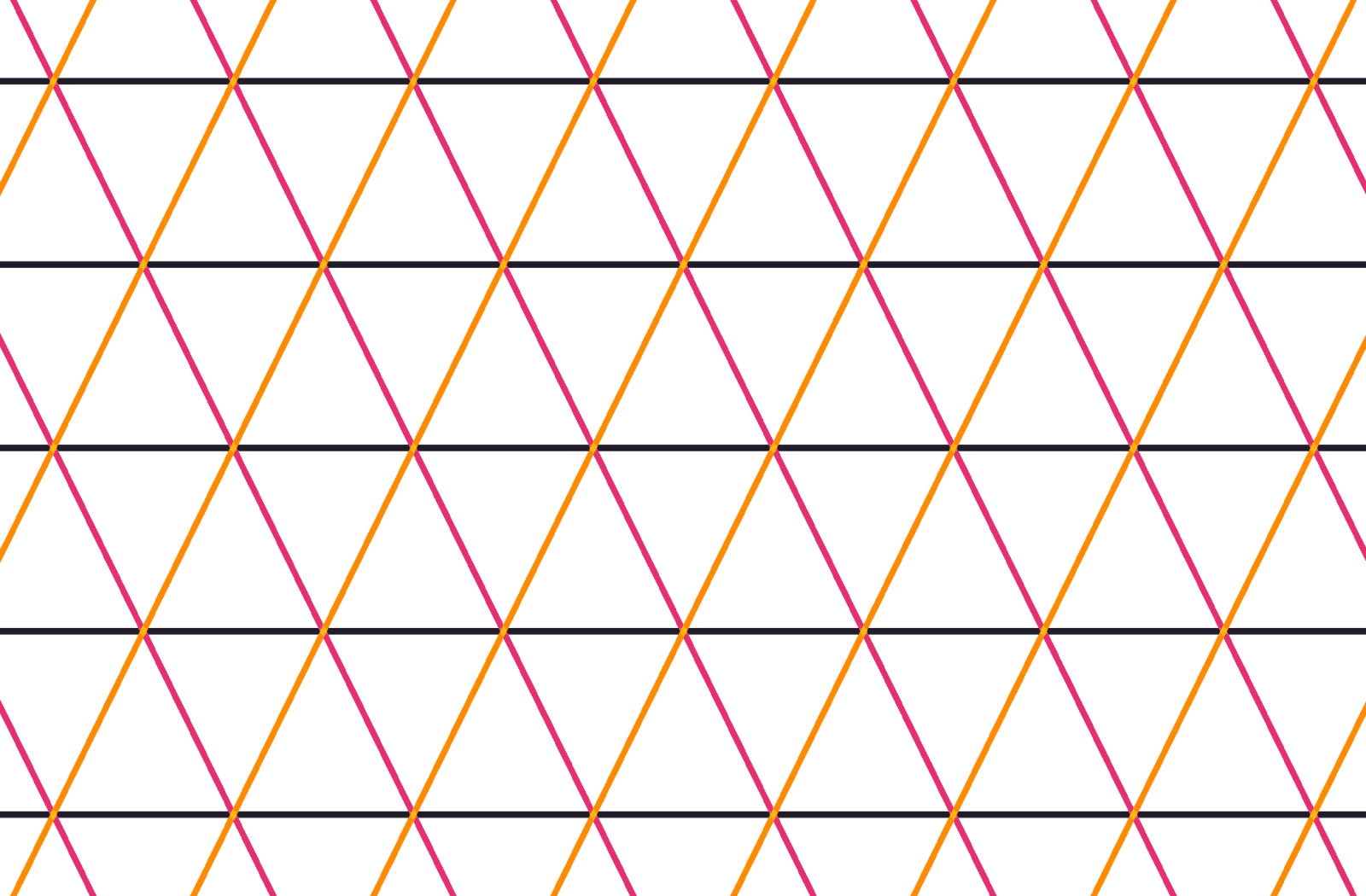 Illustration. Shows the equidistant parallel lines which create the pattern of isosceles triangles.
