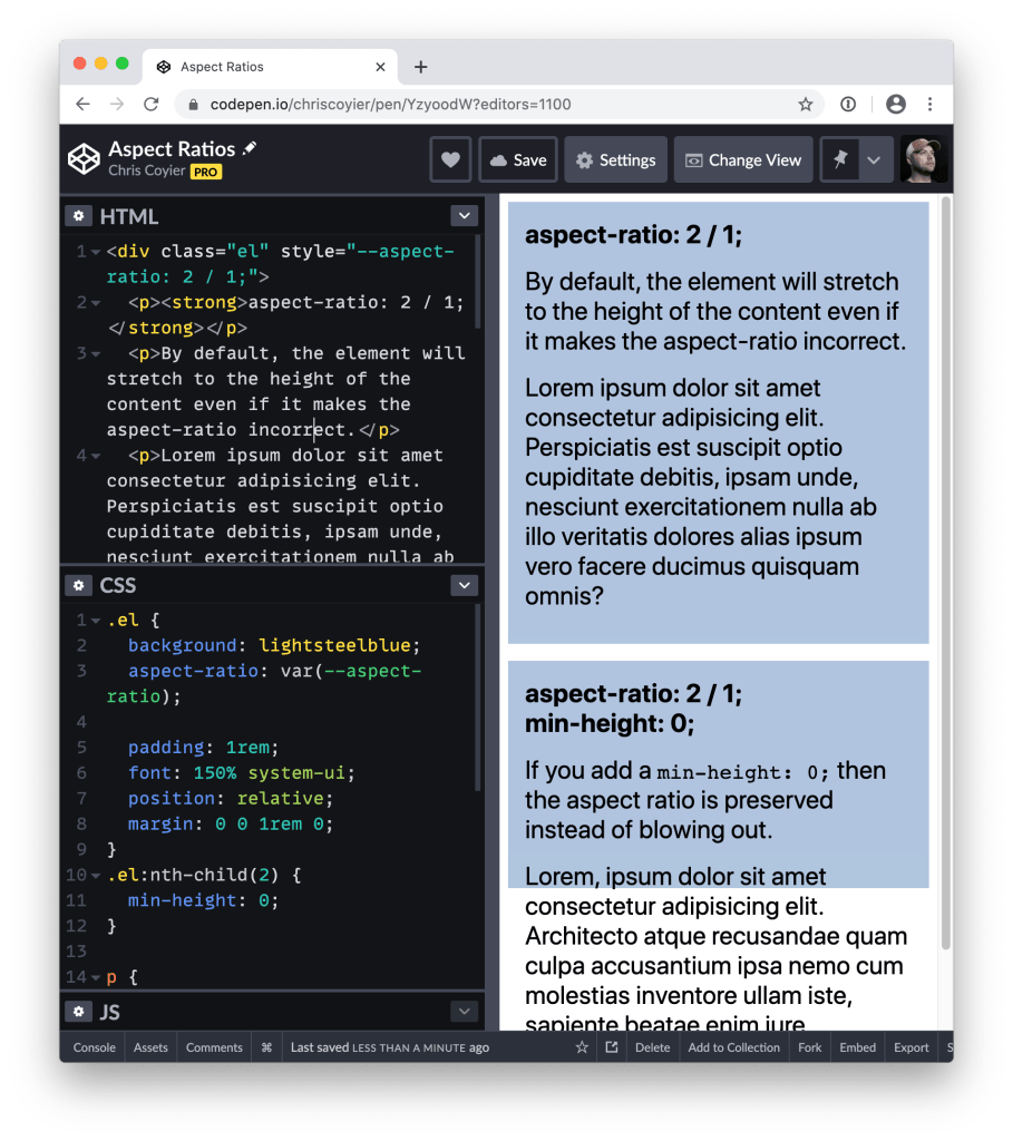 A First Look at `aspect-ratio` 2