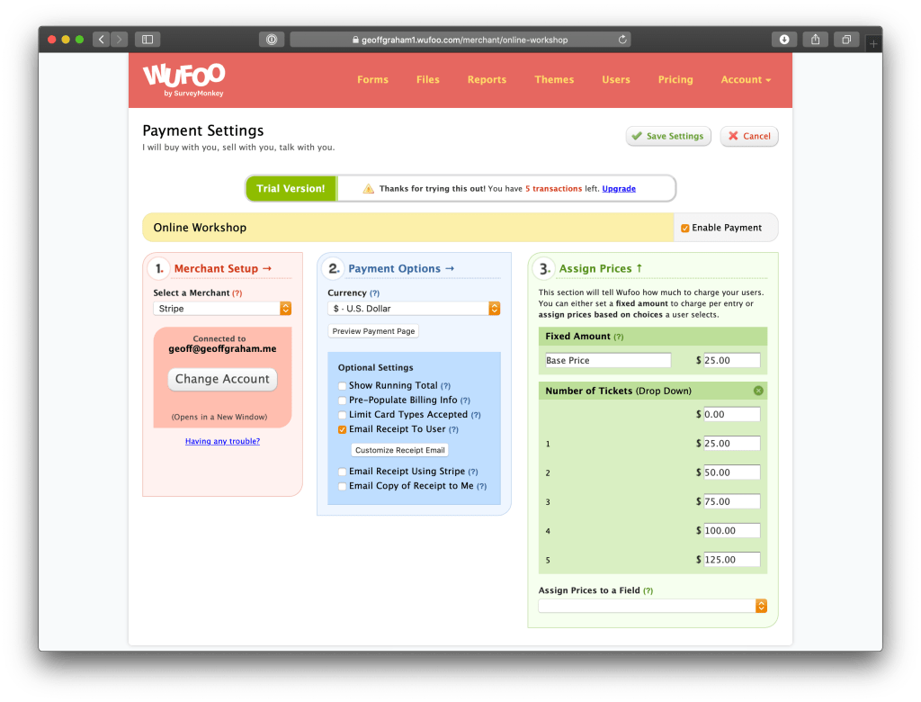 Virtual Event Registrations with Wufoo Forms