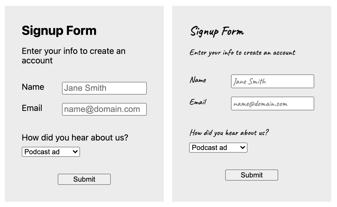 16px or Larger Text Prevents iOS Form Zoom