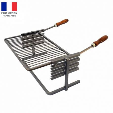 support et grille luxy pour cheminee ou barbecue