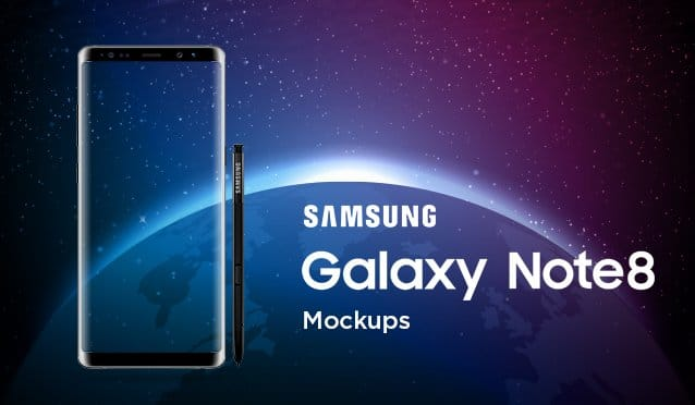 15 Best Samsung Galaxy Note 8 Mockup Templates CSS Author