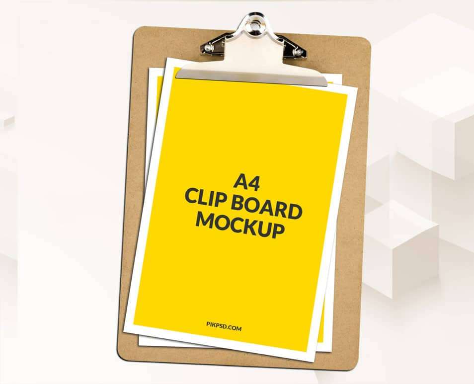 Download Free A4 Clipboard Mockup PSD » CSS Author