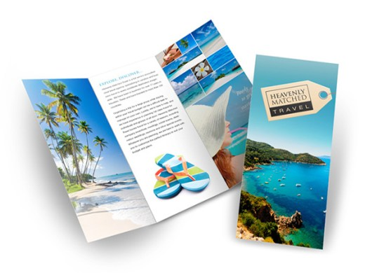 54 Best Travel Brochures Examples 2018   CSSDive 36  Heavenly Matched Travel