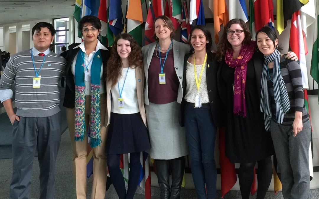 Presenting at the UN