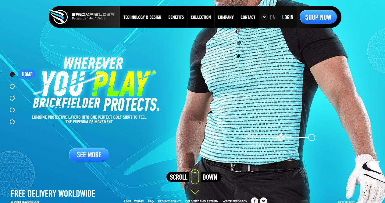 Brickfielder Golf Shirts