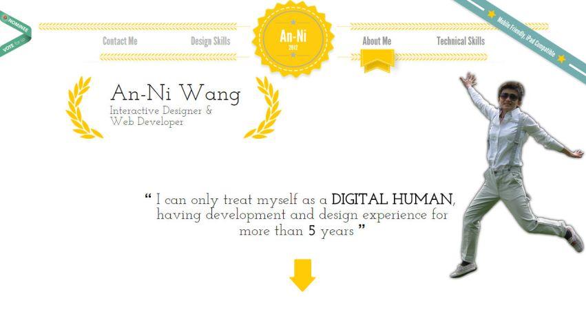 An-Ni Wang's interactive resum