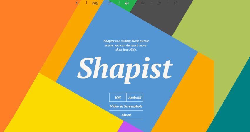Shapist puzzle game