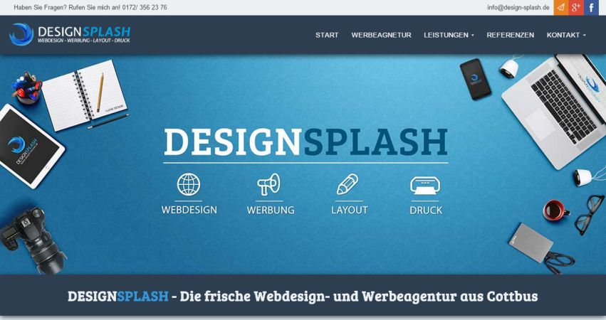 DesignSplash - Webdesign Cottbus