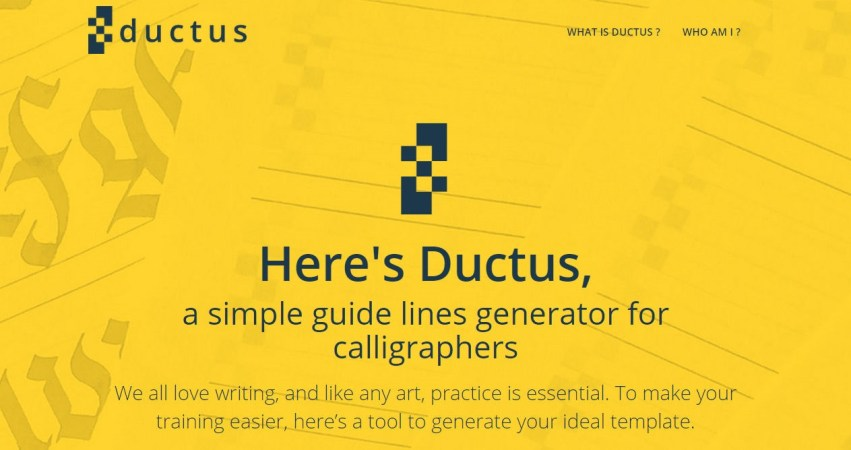 Ductus - A Tool For Calligraphers