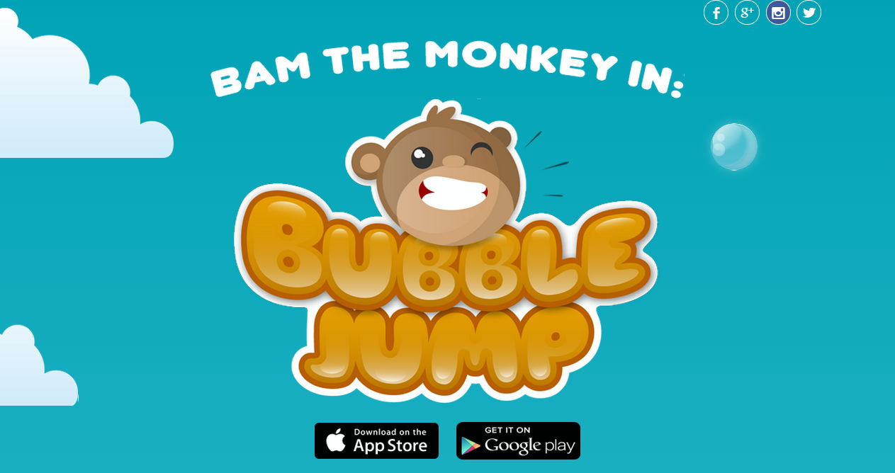 BubbleJump Starring BAM The Monkey