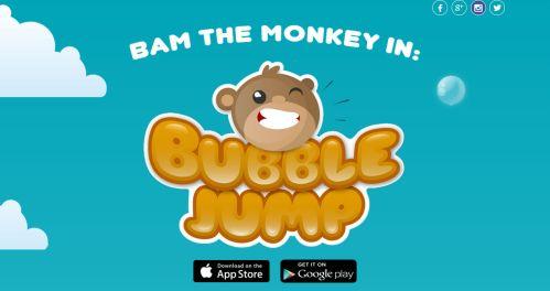 BubbleJump Starring BAM The Monkey