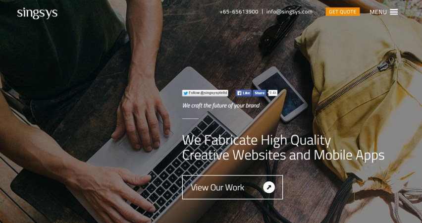 Web Design Company — Singsys