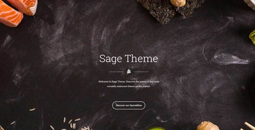 Sage - Restaurant WordPress Theme