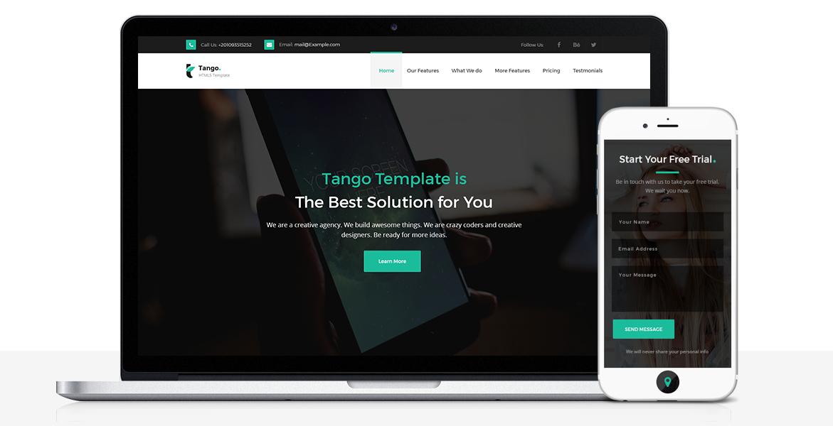 Tango - Landing Page