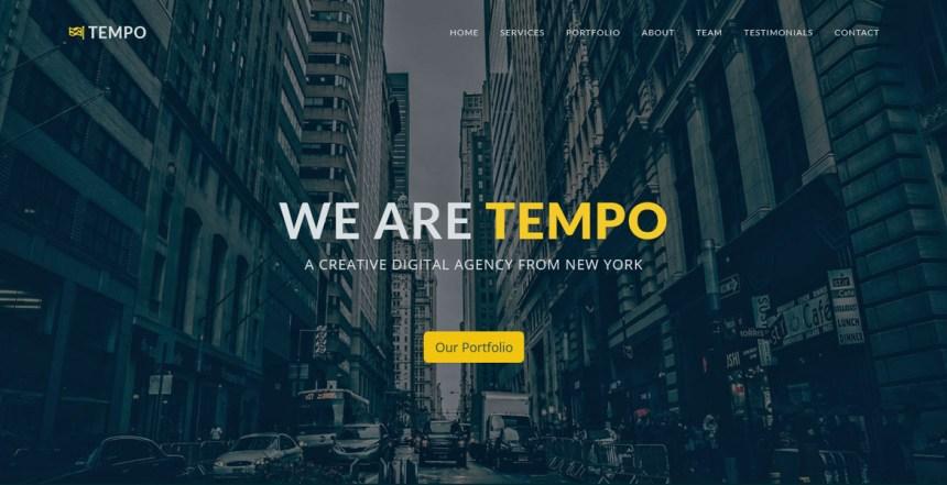 Tempo - Free Bootstrap Template