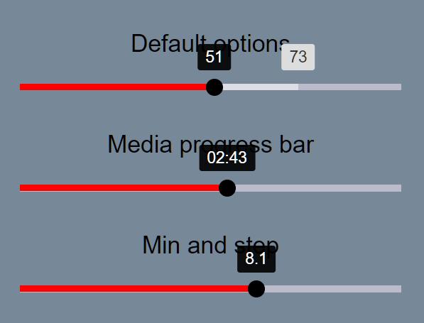 Lightweight Accessible Range Slider Component - aria-progress-range-slider