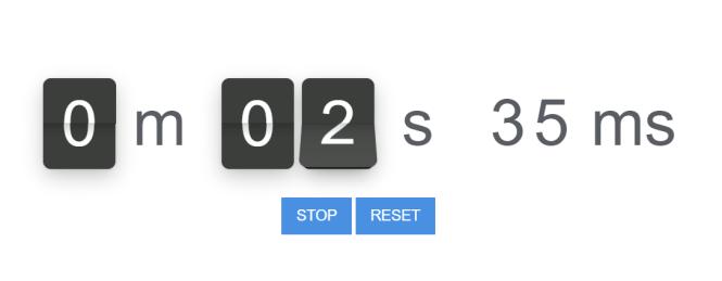 Flip.js Stopwatch