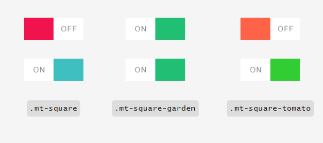 MoreToggles.css Flat Square Switches