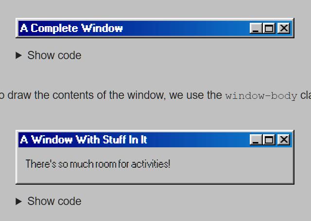 98.css Dialog Window