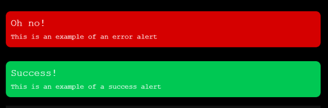 mono-color Alerts