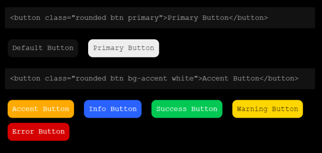 mono-color Rounded Buttons