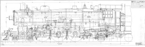 Locomotive engineering drawing from the Ingenium Collection, Canada Science and Technology Archives; J-35-L-326.