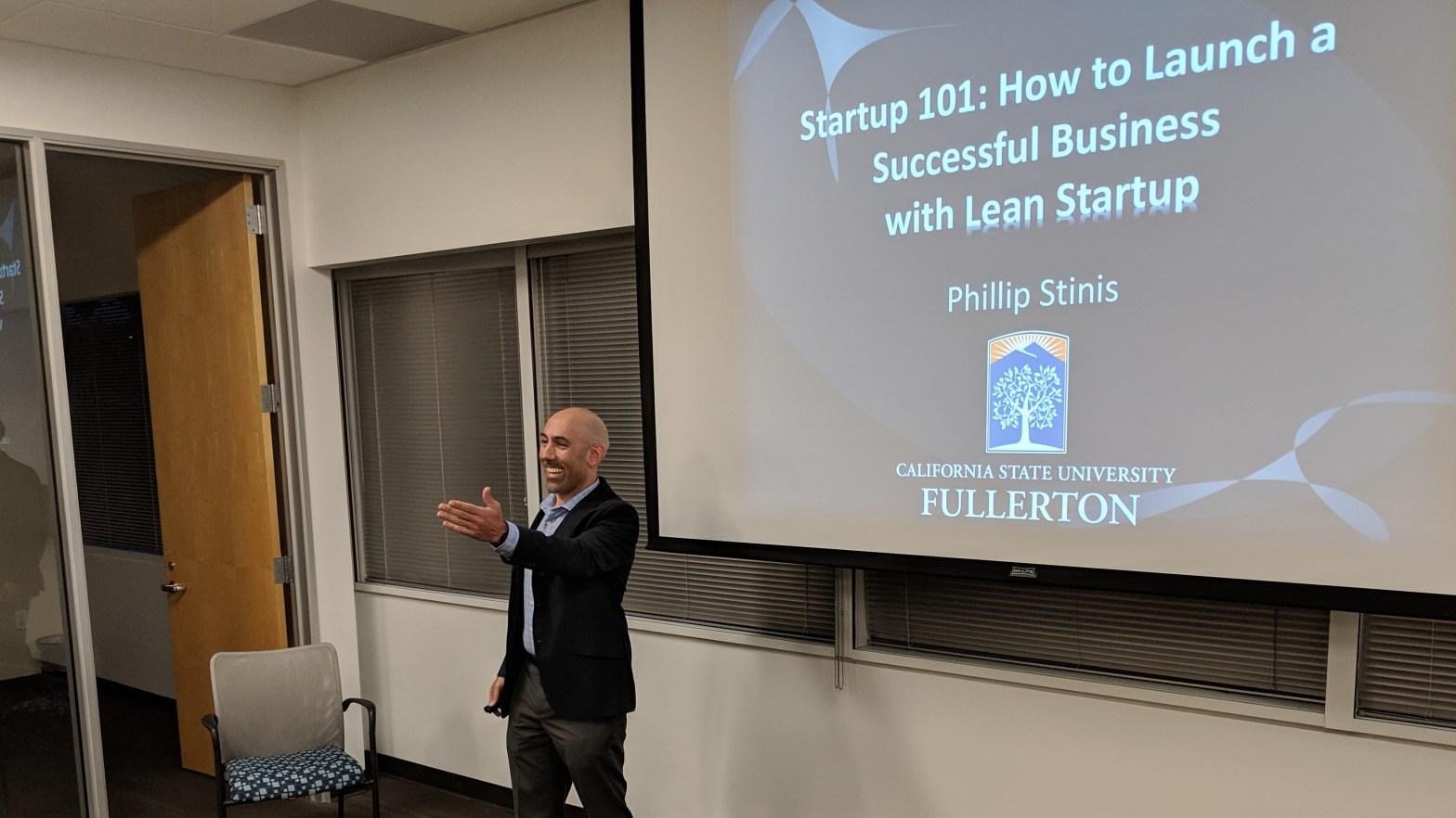Phillip Stinis CSUF Startup Incubator Talk