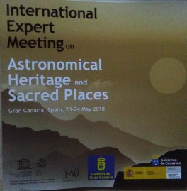 photo of programme cover - astronomical heritage and sacred places