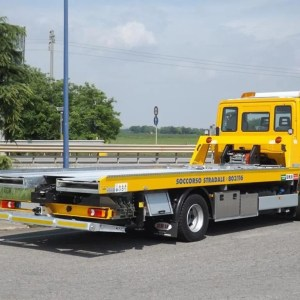 TRUCK with hydraulic ramps and boom cranes PSL