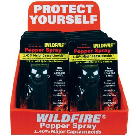 Wildfire Display 12 1/2oz Leatherette Black