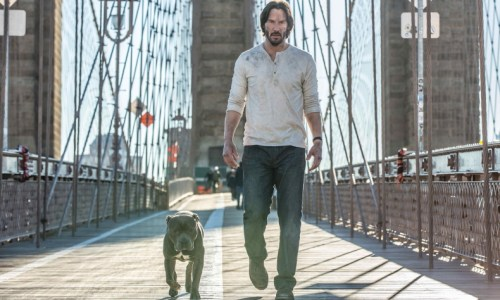 Keanu Reeves + dog