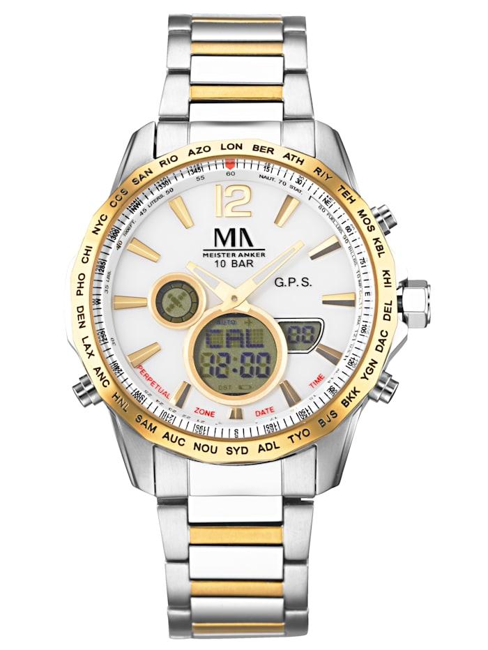 Herren-GPS-Funk-Uhr Chronograph Meister Anker Multicolor