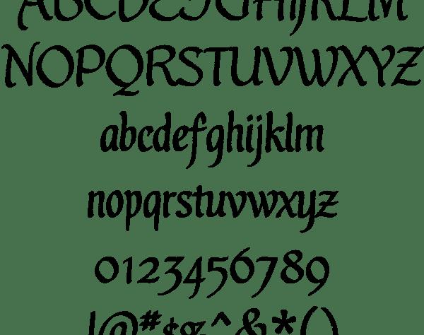Ultra gothic ot wedding font
