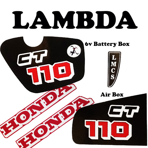 6v ct110 sticker plus honda