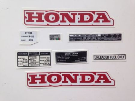 honda ct110 replacement decals labels