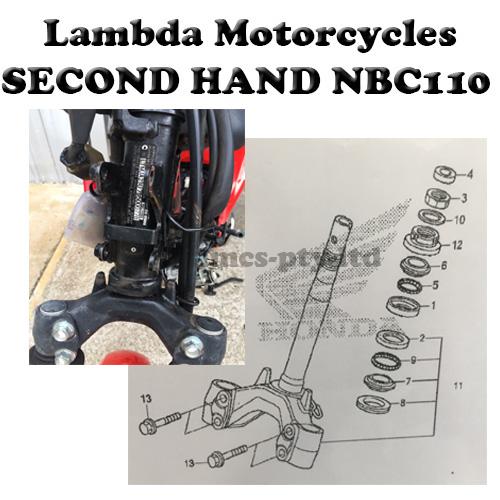 Second Hand steering stem triple tree for Honda NBC110