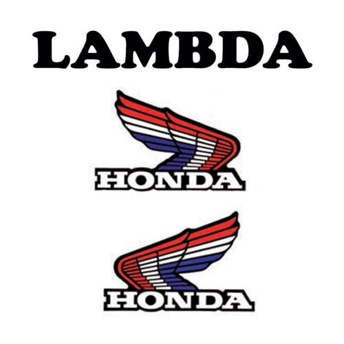 tri colour honda wings sticker