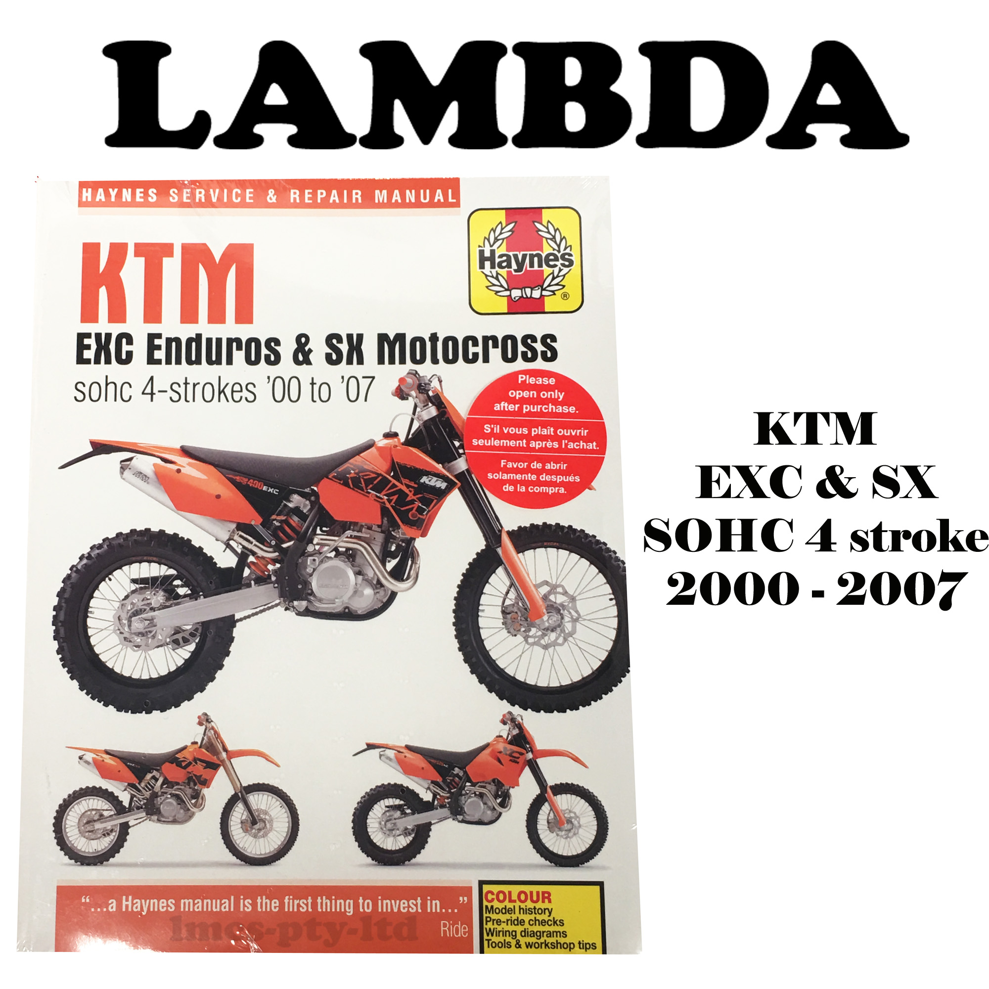 Manual Book by Haynes for KTM 250EXC 400EXC 450EXC 520EXC 525EXC on ktm 250 sx wiring diagram, ktm 500 exc wiring diagram, ktm 520 exc wiring diagram,