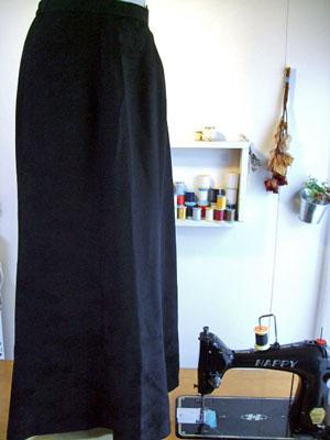 羽織の着物からマーメードラインのスカートにリメイク!