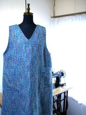 ジャンパースカート!着物生地以外からも製作しますよ。